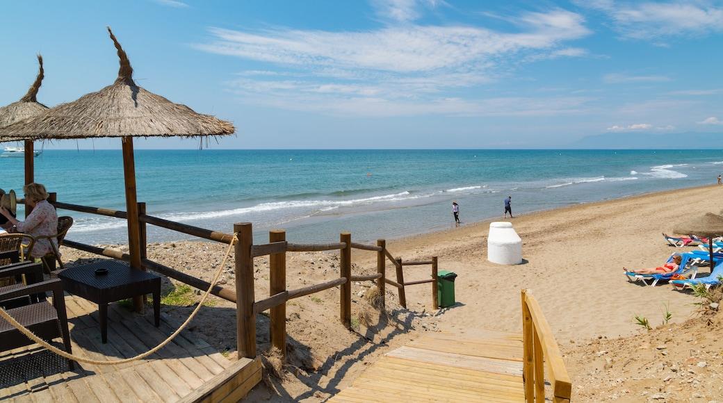 Nikki Beach showing a beach and general coastal views