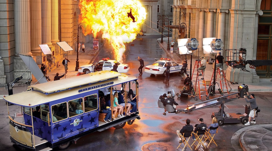 Universal Studios showing rides