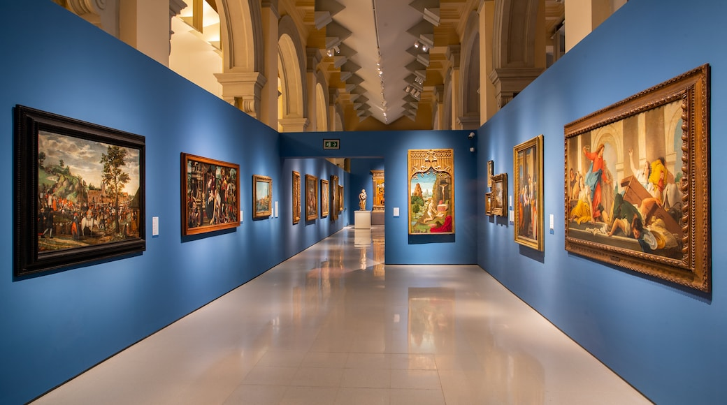 National Art Museum of Catalonia which includes interior views and art