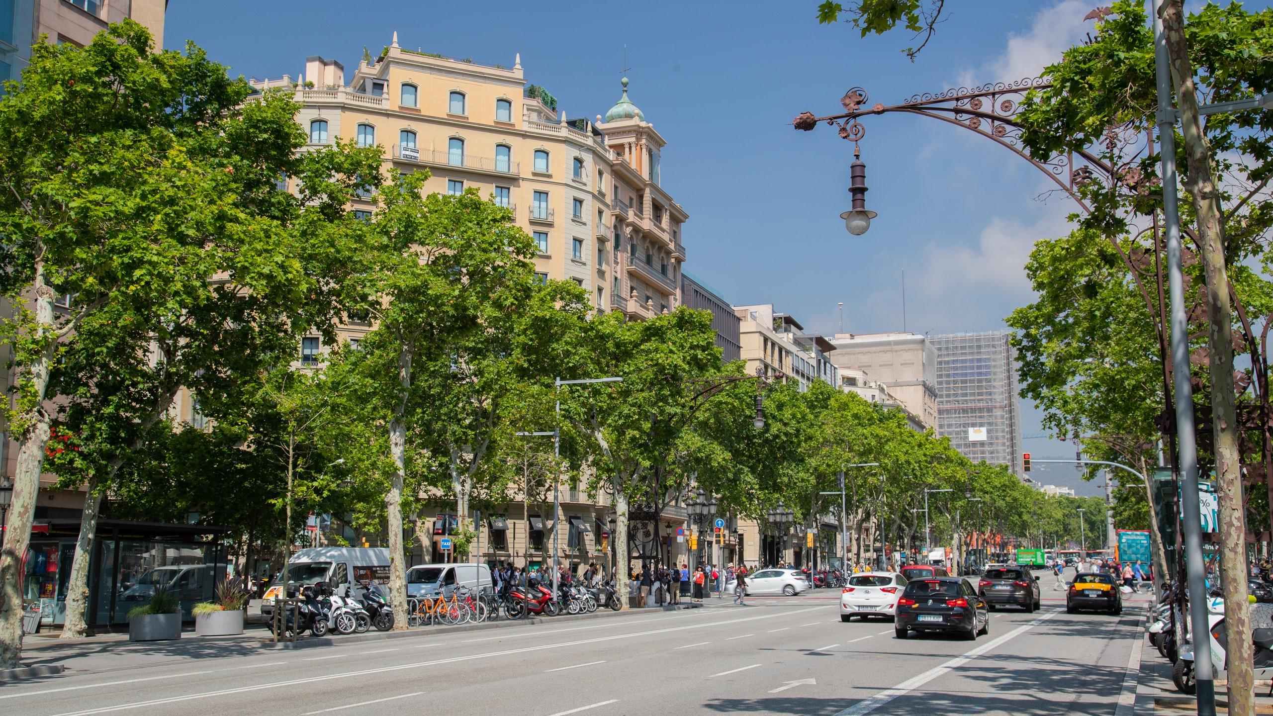Passeig de Gràcia, Barcelona, Katalonien, Spanien