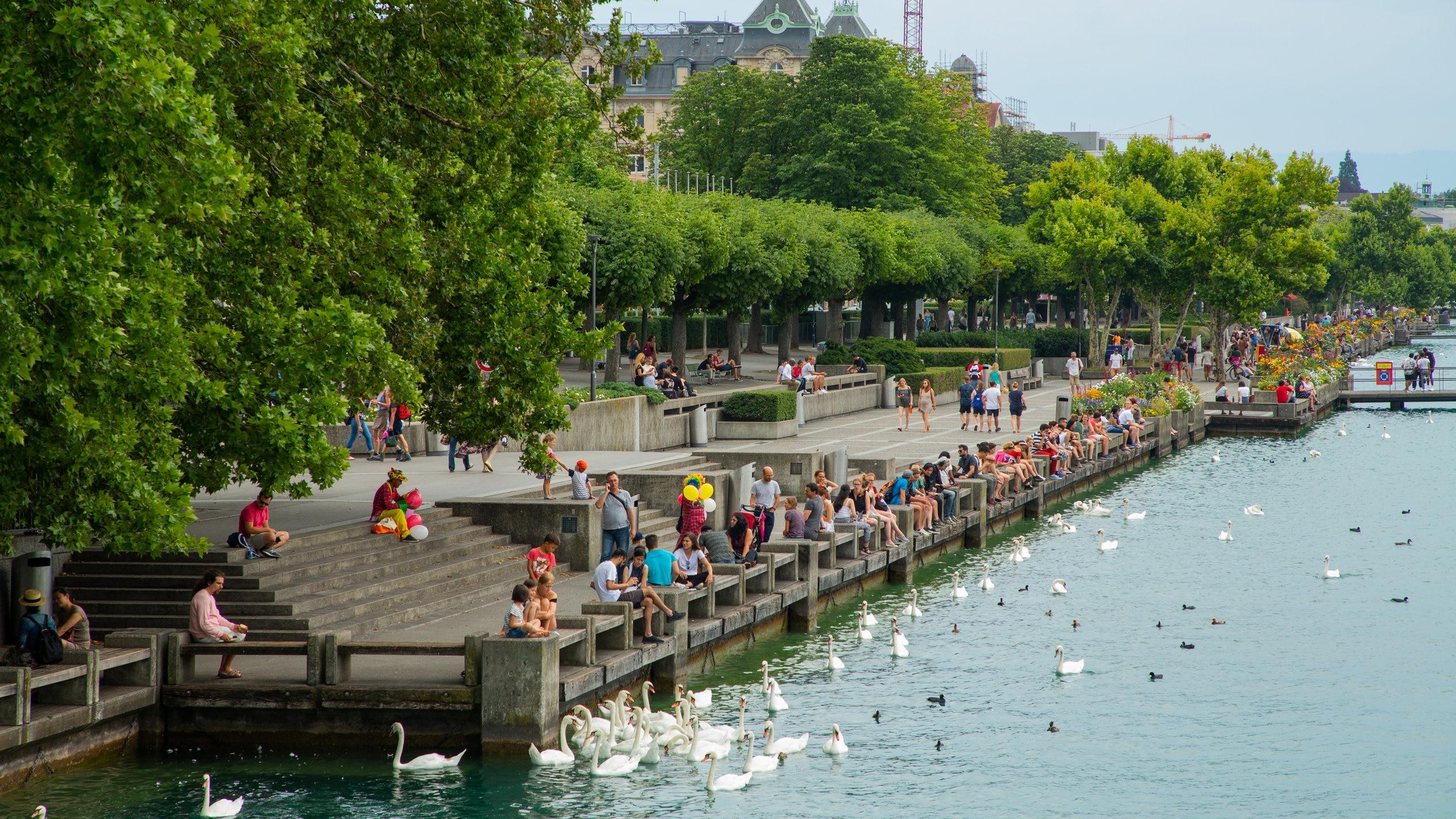 Lakeside Promenade, Zürich, Canton of Zurich, Switzerland