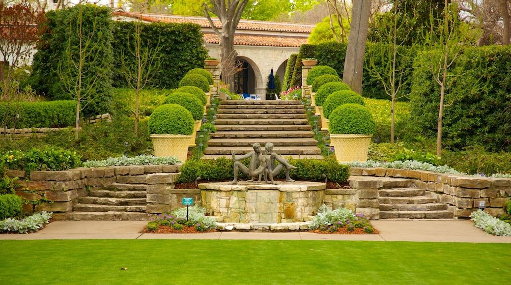 Dallas Arboretum and Botanical Garden featuring a garden and outdoor art