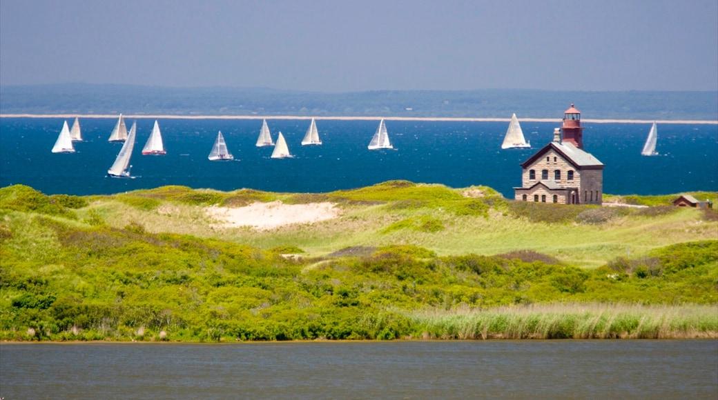 Block Island featuring general coastal views, sailing and landscape views