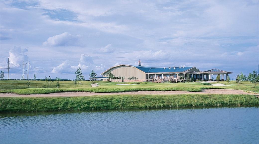 Tunica som inkluderar kustutsikter och en sjö eller ett vattenhål