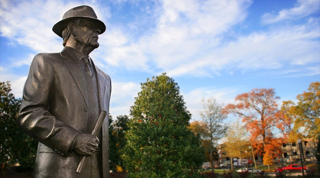 Tuscaloosa showing a statue or sculpture, fall colors and a monument