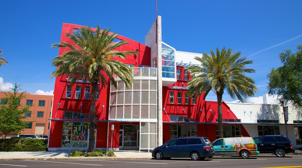 Morean Arts Center featuring a city, art and street scenes