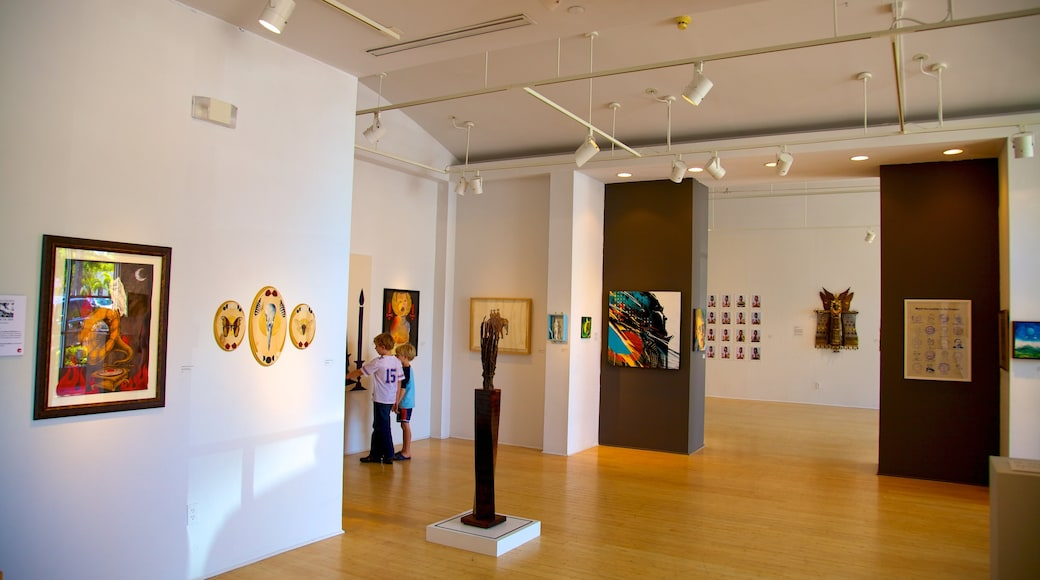 Morean Arts Center which includes interior views and art