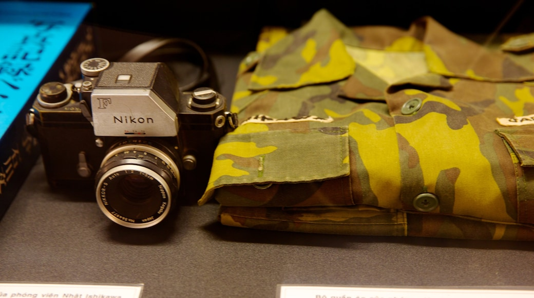 Het Oorlogsmuseum bevat interieur en militaire voorwerpen