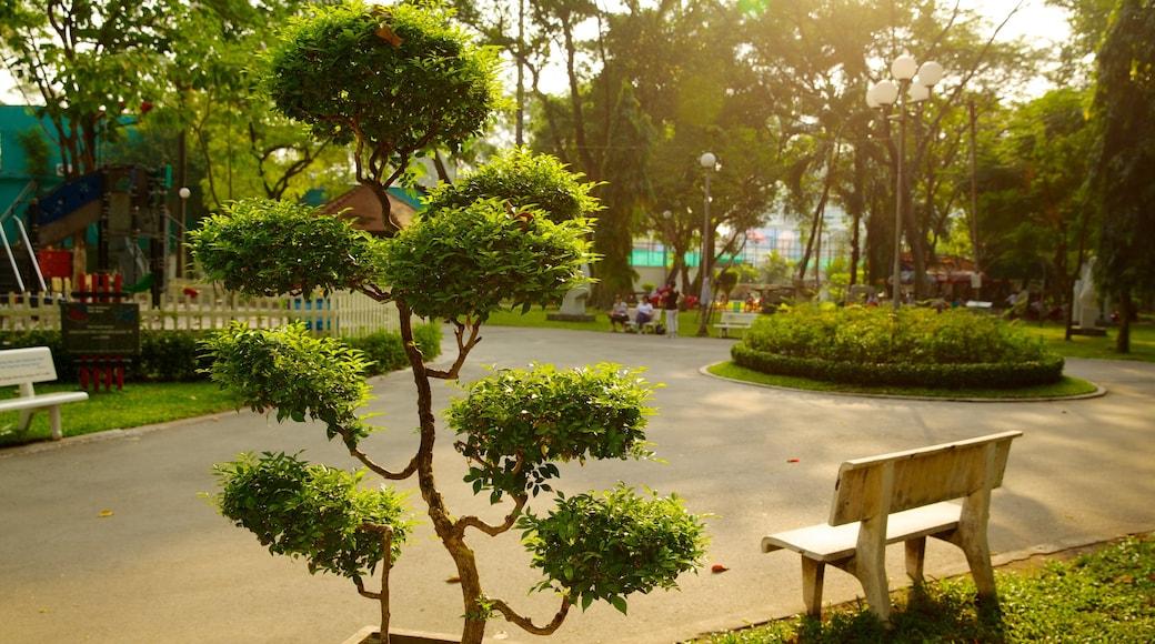 타오단 공원 을 특징 정원, 실내 전경 과 일몰
