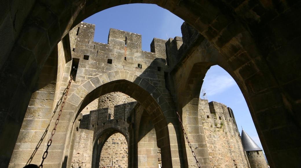 Carcassonne mettant en vedette patrimoine architectural et château