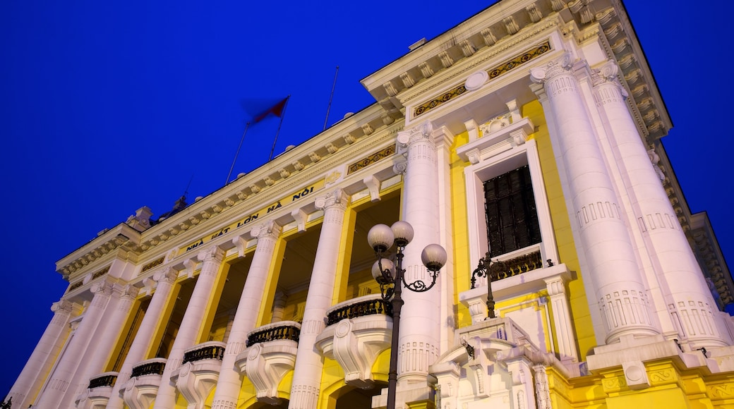 Hanoi Opera House featuring heritage architecture and theatre scenes