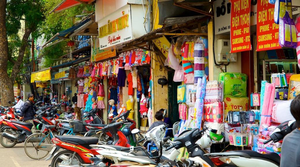 Mercato Dong Xuan mostrando città, strade e mercati