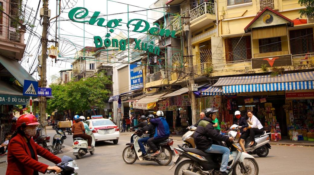 Mercato Dong Xuan caratteristiche di strade, città e mercati