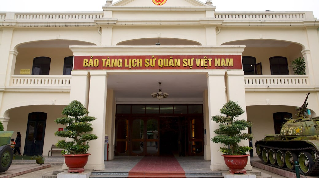 Hanoi War Museum showing signage and military items
