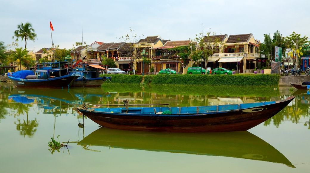 Hoi An Ancient Town which includes a river or creek, boating and a bay or harbour