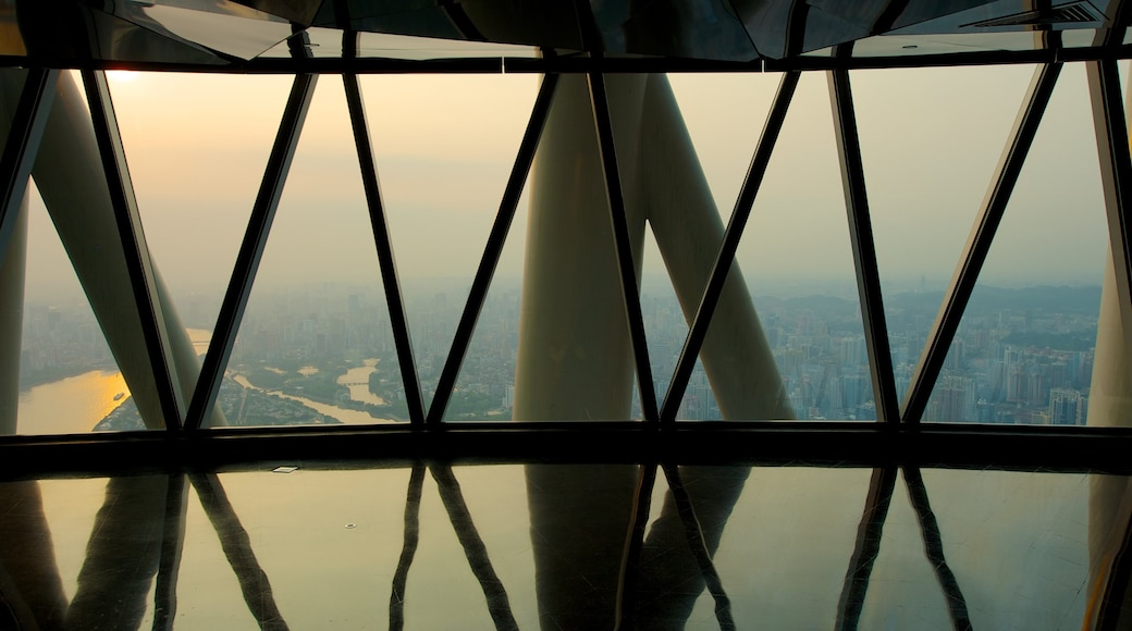 Canton Tower showing modern architecture, interior views and a skyscraper