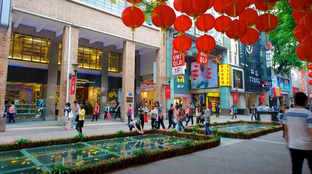北京路步行街 设有 購物, 城市 和 街道景色