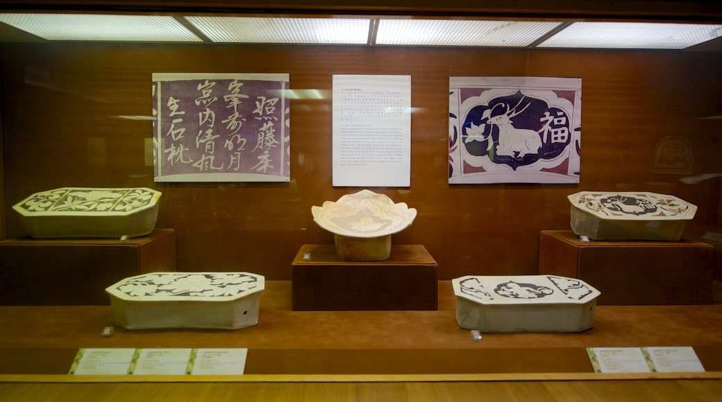 The Western Han Museum of the Nanyue King Mausoleum featuring interior views and art