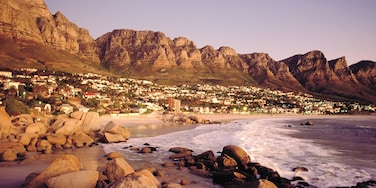 Camps Bay featuring mountains, landscape views and general coastal views