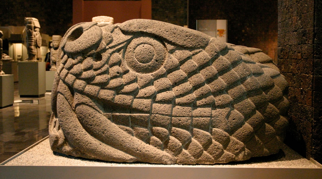 Museo Nacional de Antropologia mostrando vista interna