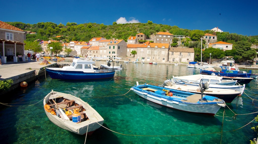 Dubrovnik - Southern Dalmatia showing a bay or harbour, boating and a coastal town