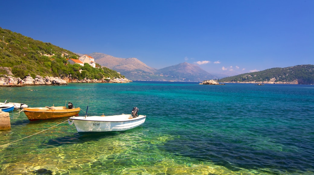 Dubrovnik - Southern Dalmatia showing general coastal views, boating and mountains