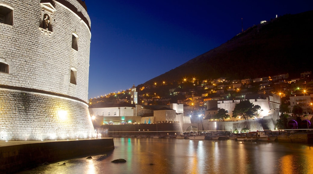 Dubrovnik - Southern Dalmatia featuring a coastal town, a bay or harbour and night scenes