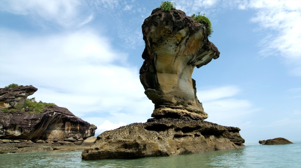 Bako National Park which includes rocky coastline and tropical scenes