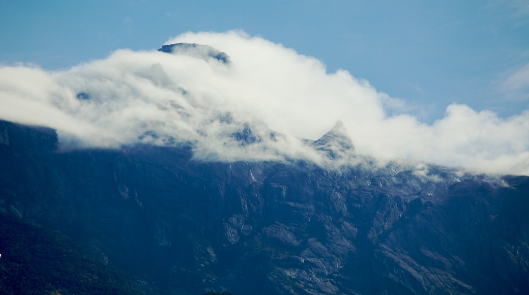 Kinabalu National Park showing mountains and mist or fog