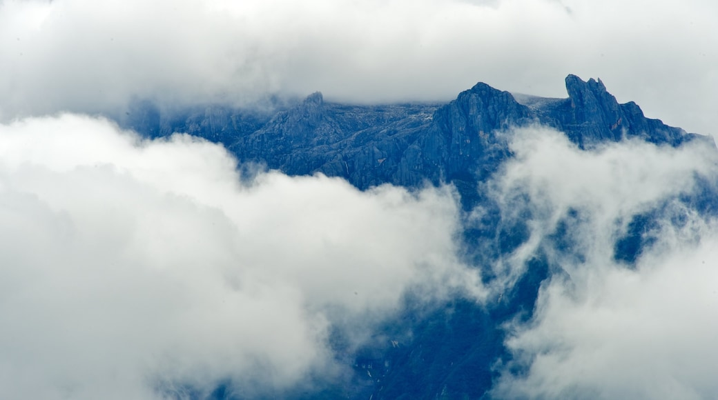 Kinabalu National Park which includes mountains, mist or fog and landscape views