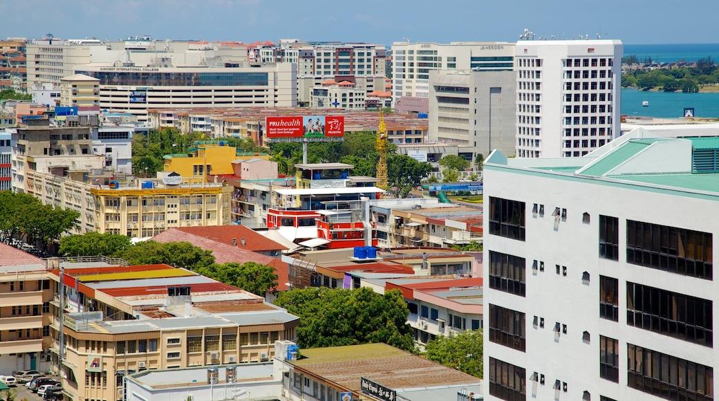 Kota Kinabalu featuring a city
