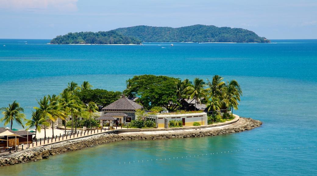 Kota Kinabalu featuring island views, a coastal town and tropical scenes