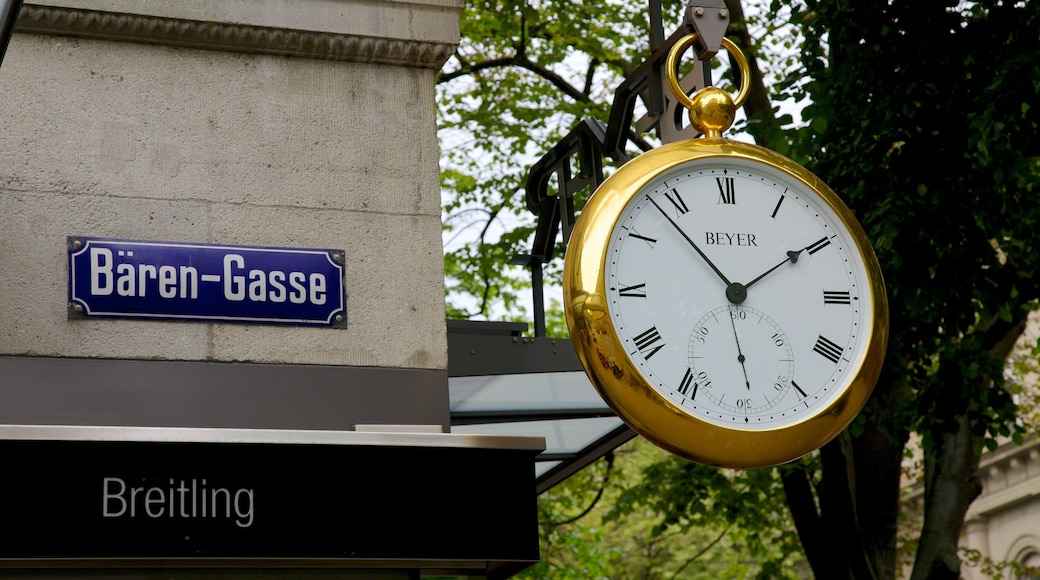 Bahnhofstrasse 呈现出 指示牌