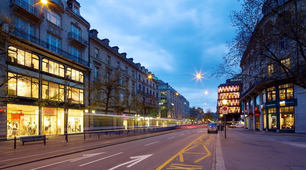 Bahnhofstrasse 其中包括 街道景色 和 城市