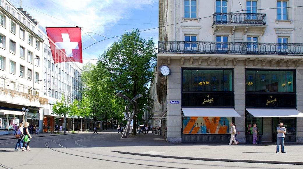 Paradeplatz mit einem CBD, moderne Architektur und Stadt