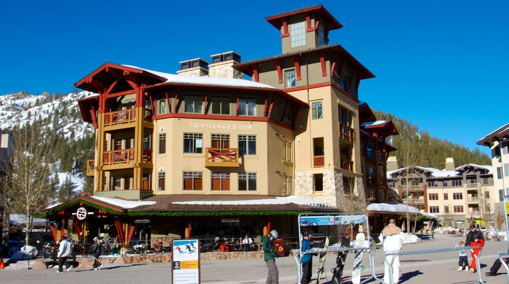 Squaw Valley Resort featuring snow, a luxury hotel or resort and street scenes