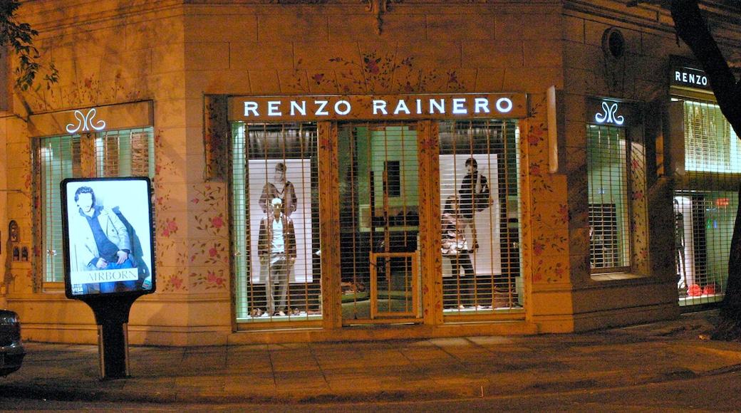 Palermo Soho mostrando señalización, imágenes de calles y shopping