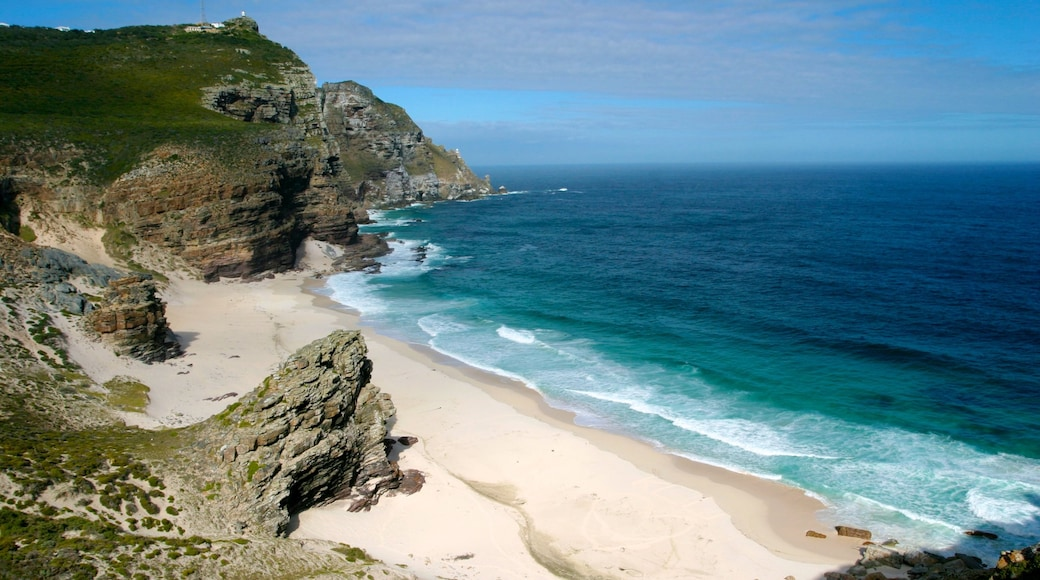 Cape of Good Hope showing landscape views, general coastal views and a sandy beach