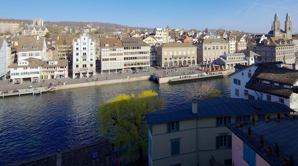 Lindenhof which includes a house, a city and a river or creek