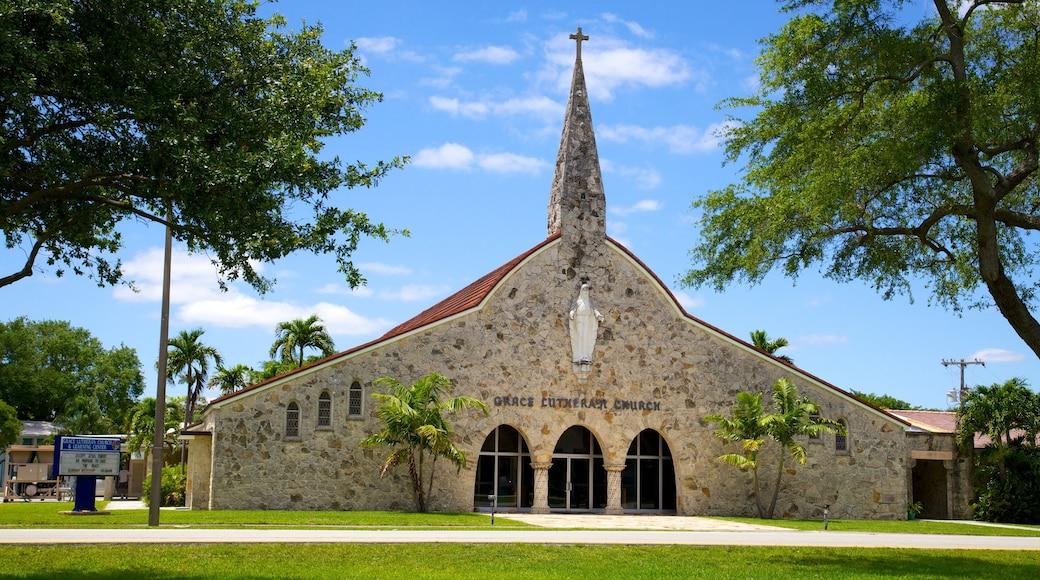 Miami Springs bevat een stad, religieuze elementen en een kerk of kathedraal