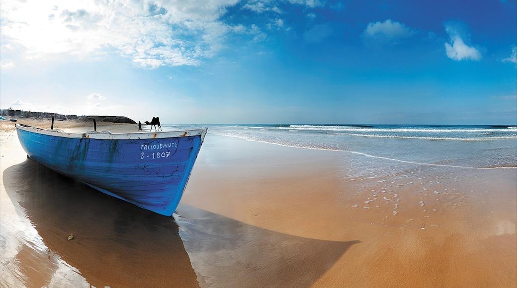 Agadir das einen Strand, Bootfahren und Skyline