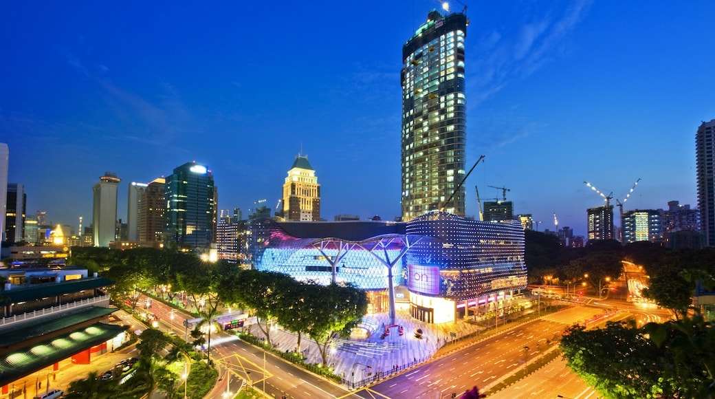 Singapore showing a city, modern architecture and central business district