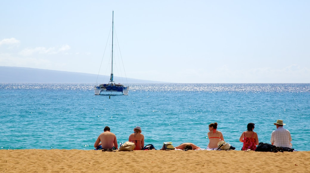 Kaanapali Beach featuring a sandy beach and boating