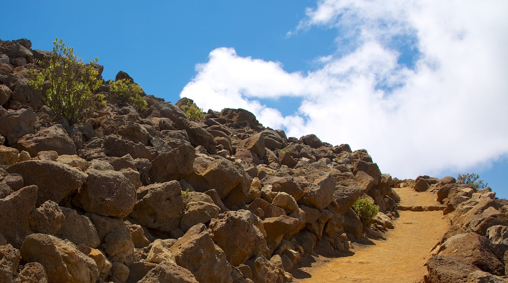 Haleakala Crater featuring tranquil scenes and hiking or walking