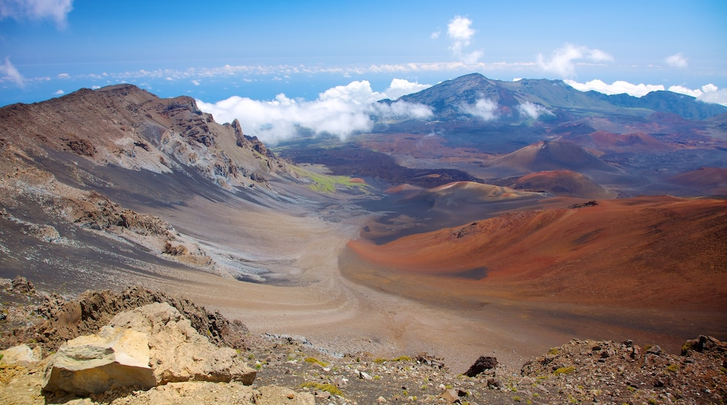 Haleakala Crater featuring tranquil scenes, landscape views and mountains