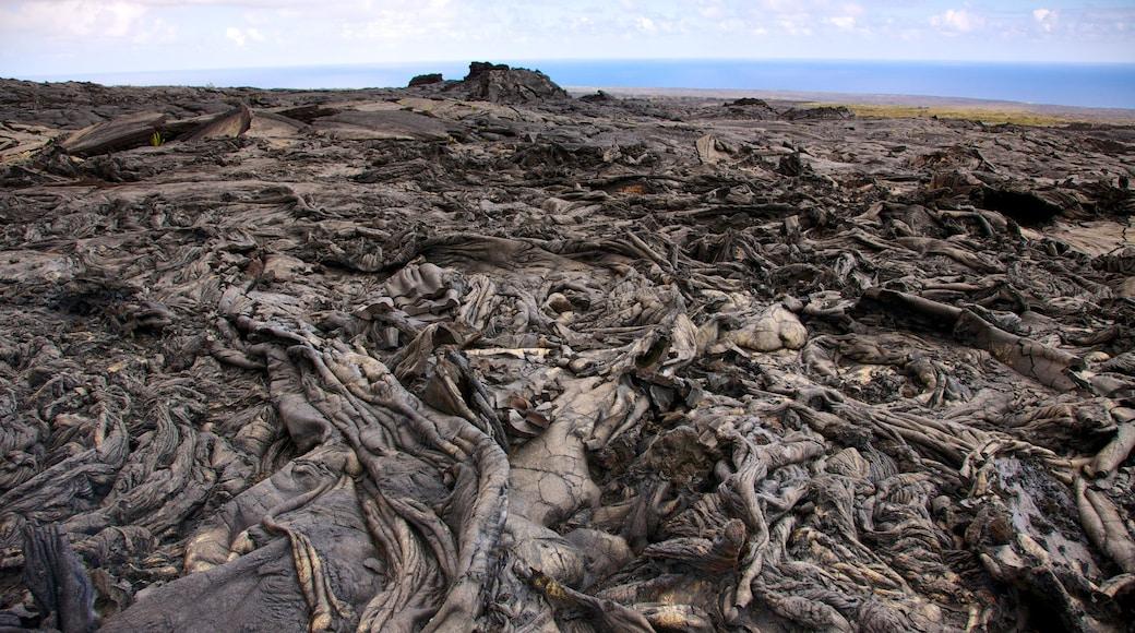 Hawaii Volcanoes National Park which includes landscape views