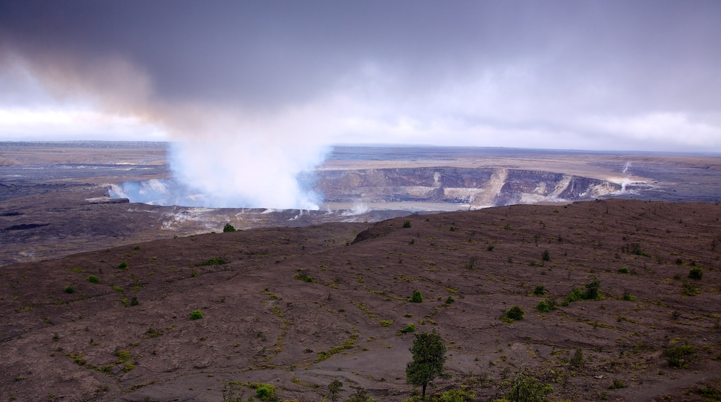 Hawaii Volcanoes National Park featuring landscape views and a garden