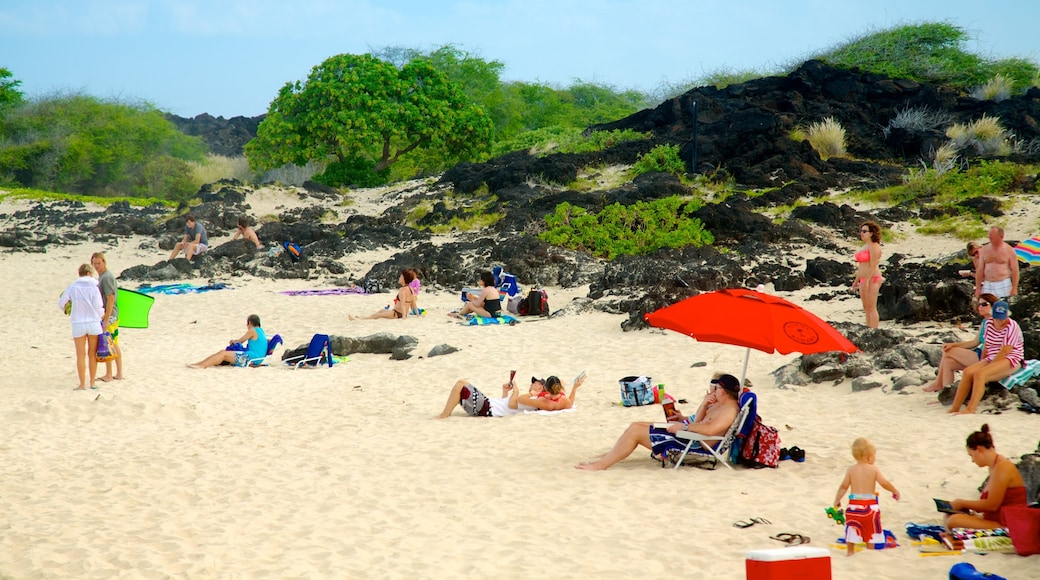 Kua Bay featuring a sandy beach and tropical scenes