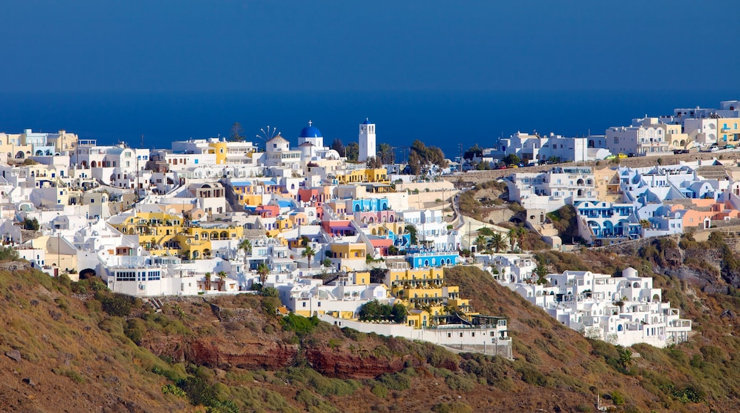Fira featuring a small town or village and skyline