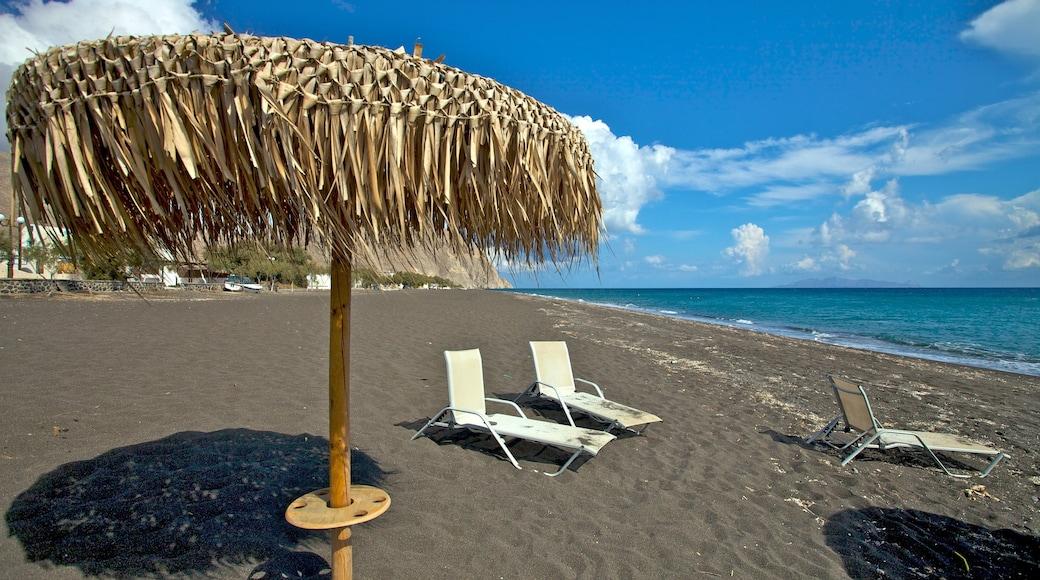 Santorin qui includes plage